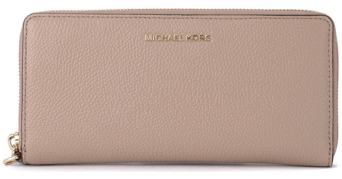 fcfcfdd401ab6e MICHAEL Michael Kors Continental Truffle Tumbled Leather Wallet Women's  Purse Wallet In Beige in Natural for Men - Lyst