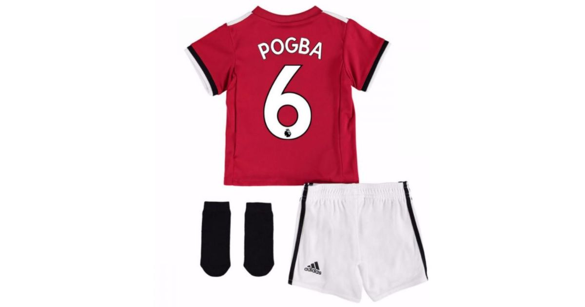 d00518c3c Adidas 2017-2018 Man United Home Baby Kit (pogba 6) Girls s In Red in Red  for Men - Lyst