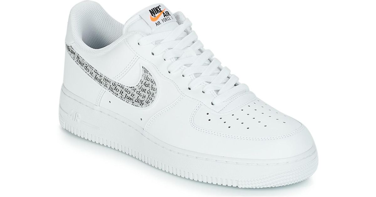 48ebd4d0cb168 Nike Air Force 1  07 Lv8 Just Do It Men s Shoes (trainers) In White in White  for Men - Lyst