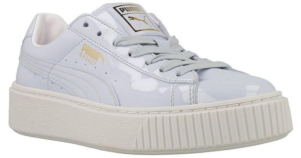 the best attitude aa564 e4ca6 PUMA - Basket Platform Patent W Women's Shoes (trainers) In Purple - Lyst