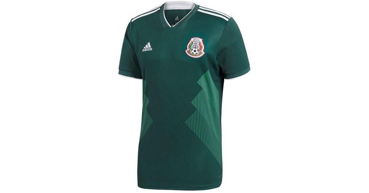da9efa446 adidas 2018-2019 Mexico Home Football Shirt (kids) Women s T Shirt In Green  in Green - Lyst