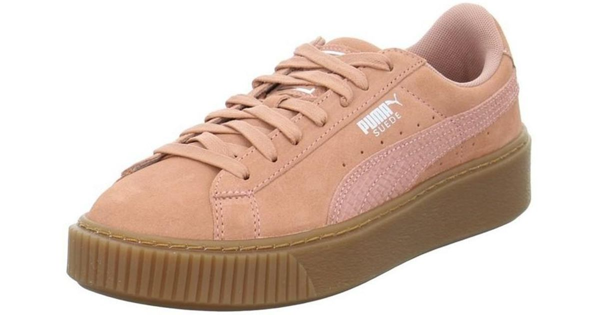 eddd656df40 PUMA Suede Platform Animal Women s Shoes (trainers) In Pink in Pink - Lyst