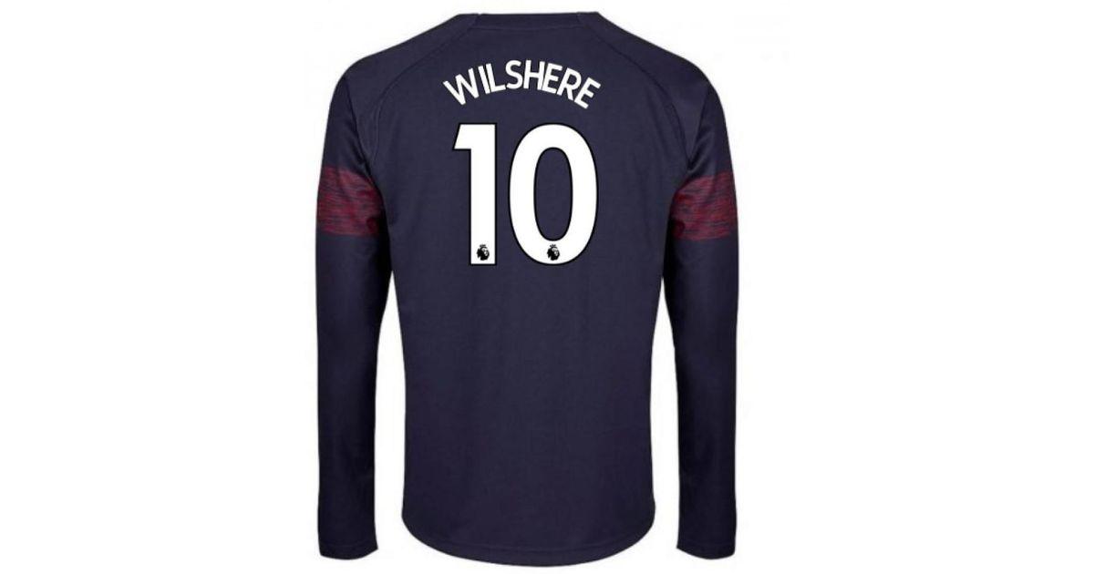 PUMA 2018-2019 Arsenal Away Long Sleeve Shirt (wilshere 10) Women s In Blue  in Blue for Men - Lyst 2cdc9d9ea