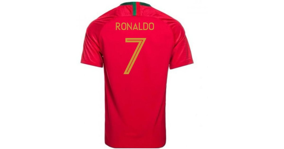 Nike 2018-2019 Portugal Home Football Shirt (ronaldo 7) - Kids Women s T  Shirt In Red in Red - Lyst 52dc6eb8c
