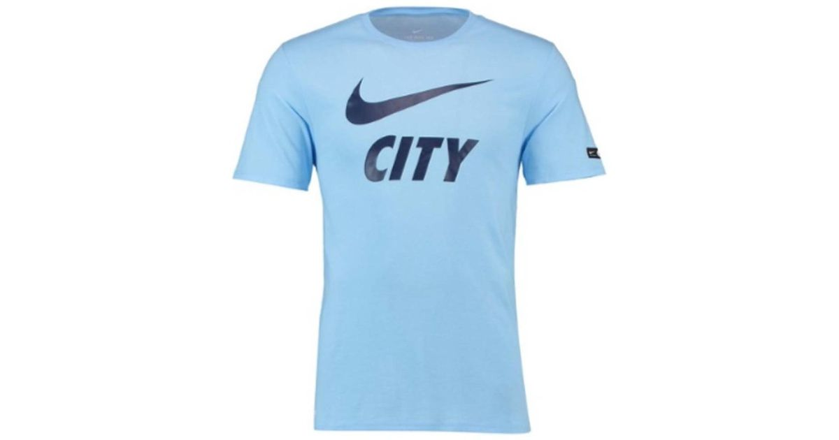 215bd025 Nike 2018-2019 Man City Dry Pre Season Tee Men's T Shirt In Blue in Blue  for Men - Lyst