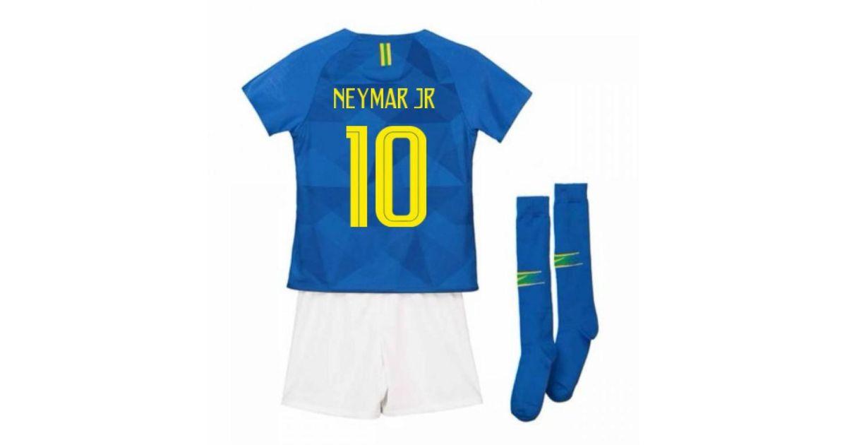 7c0252714 nike 2018-2019 brazil away little boys mini kit (neymar jr 10) men's