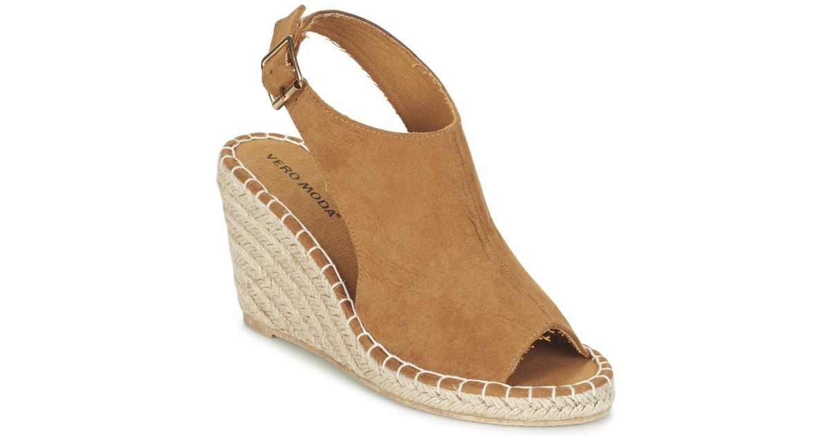 05b88813e42 Vero Moda Vmlina Wedge Sandal Women s Sandals In Brown in Brown - Lyst