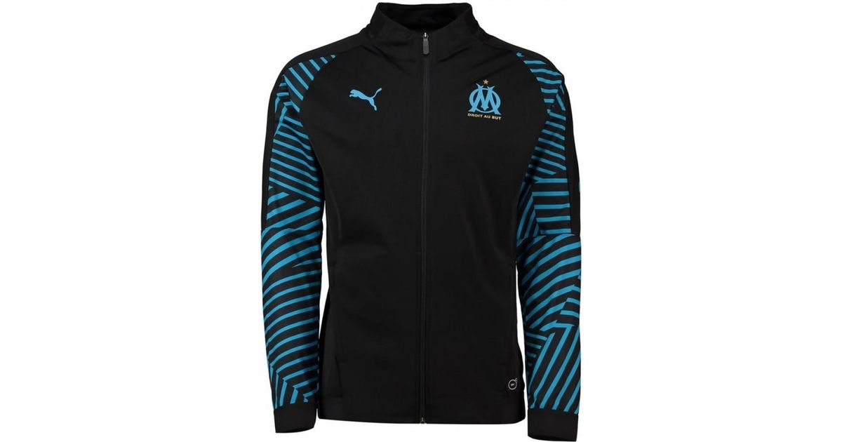 9016bff44e PUMA 2018-2019 Olympique Marseille Stadium Jacket Men's Tracksuit Jacket In  Black in Black for Men - Lyst