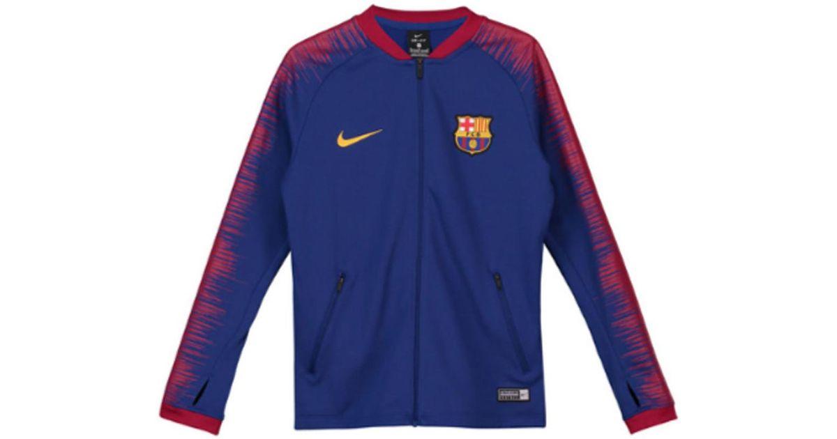 0f80d5130 Nike 2018-2019 Barcelona Anthem Jacket - Kids Men's Sweatshirt In Blue in  Blue for Men - Lyst