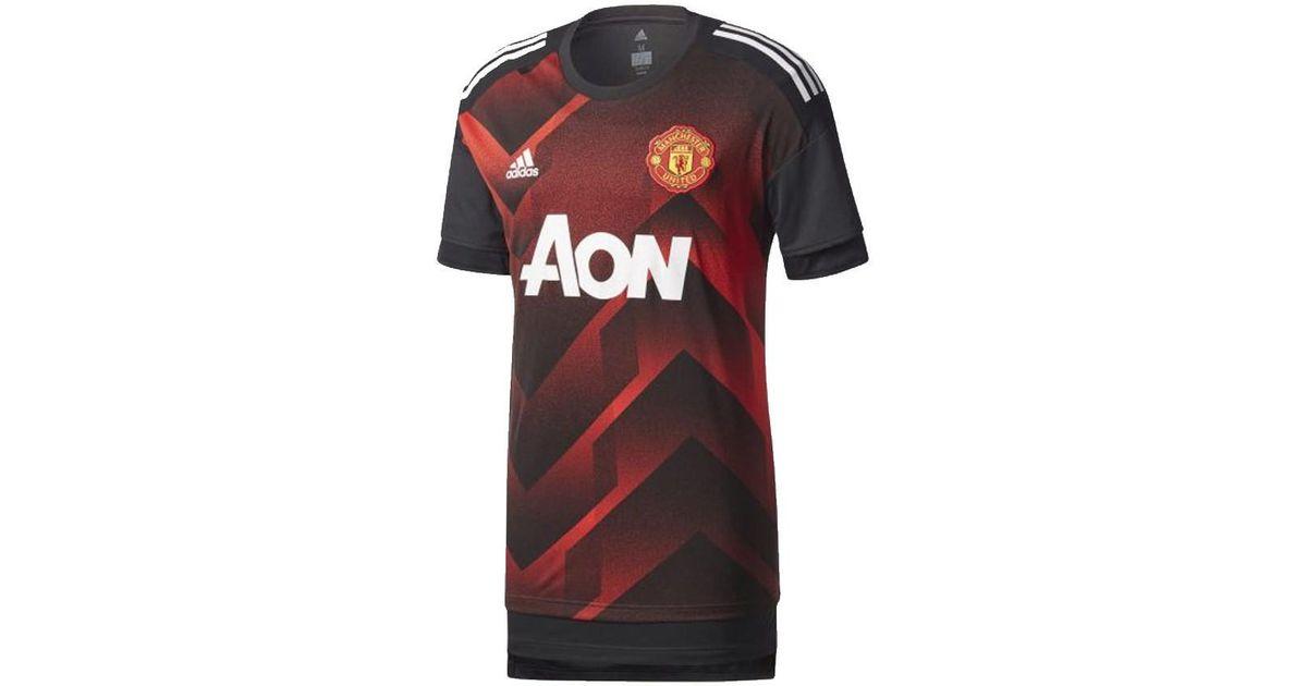 fbbb277bc adidas 2017-2018 Man Utd Pre-match Training Shirt - Kids Men's T Shirt In  Red in Red for Men - Lyst