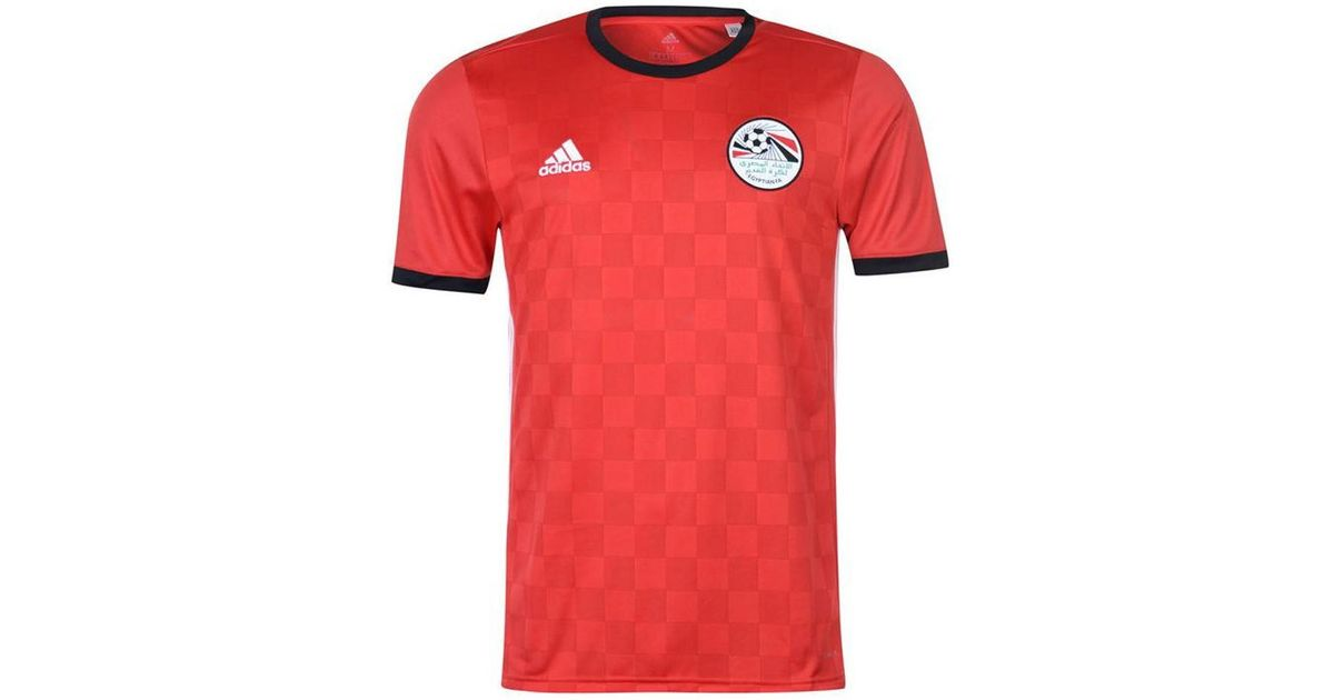e0ca6d583 adidas 2018-2019 Egypt Home Football Shirt Men s T Shirt In Red in Red for  Men - Lyst