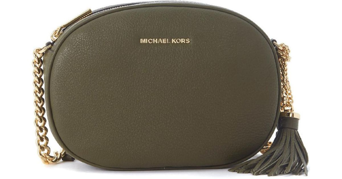 c7f54bb39dfe ... Michael Michael Kors Michael Kors Ginny Green Olive Leather Bag Womens  Shoulder Bag In Green in ...