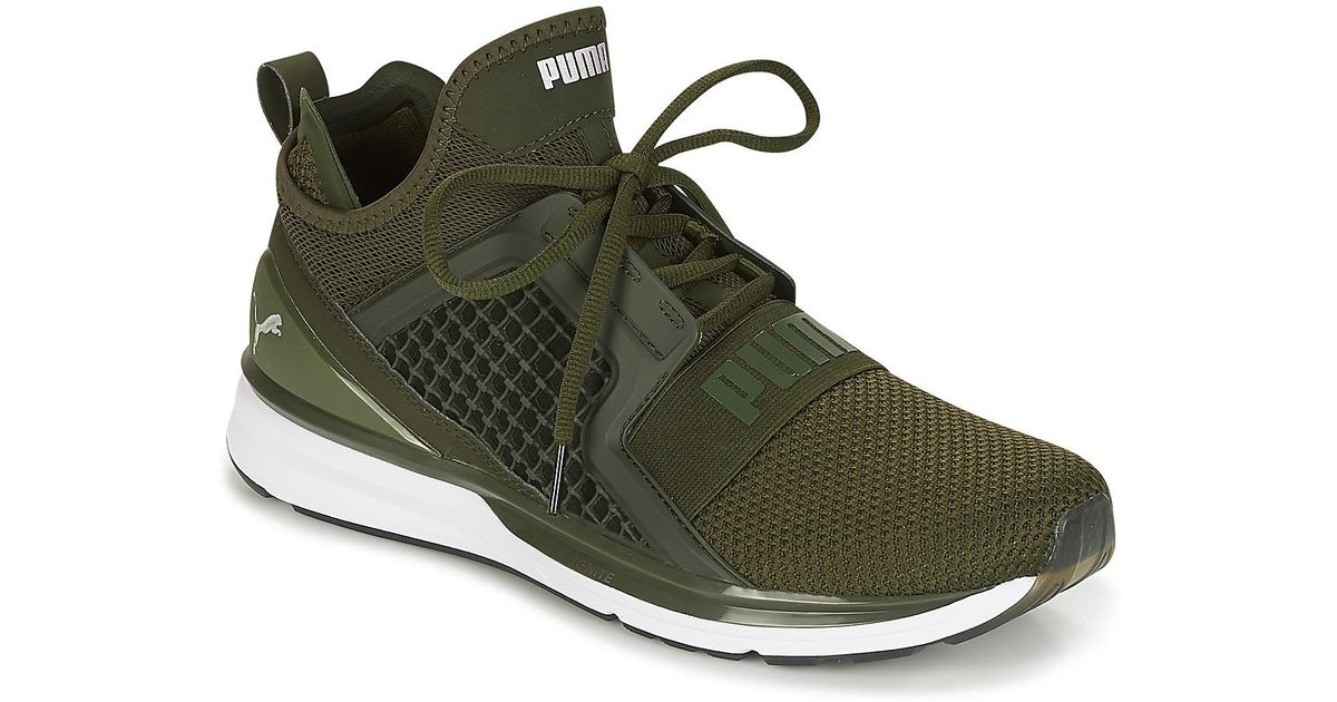 7887259606fa PUMA Ignite Limitless Weave Men s Running Trainers In Green in Green for  Men - Save 17% - Lyst