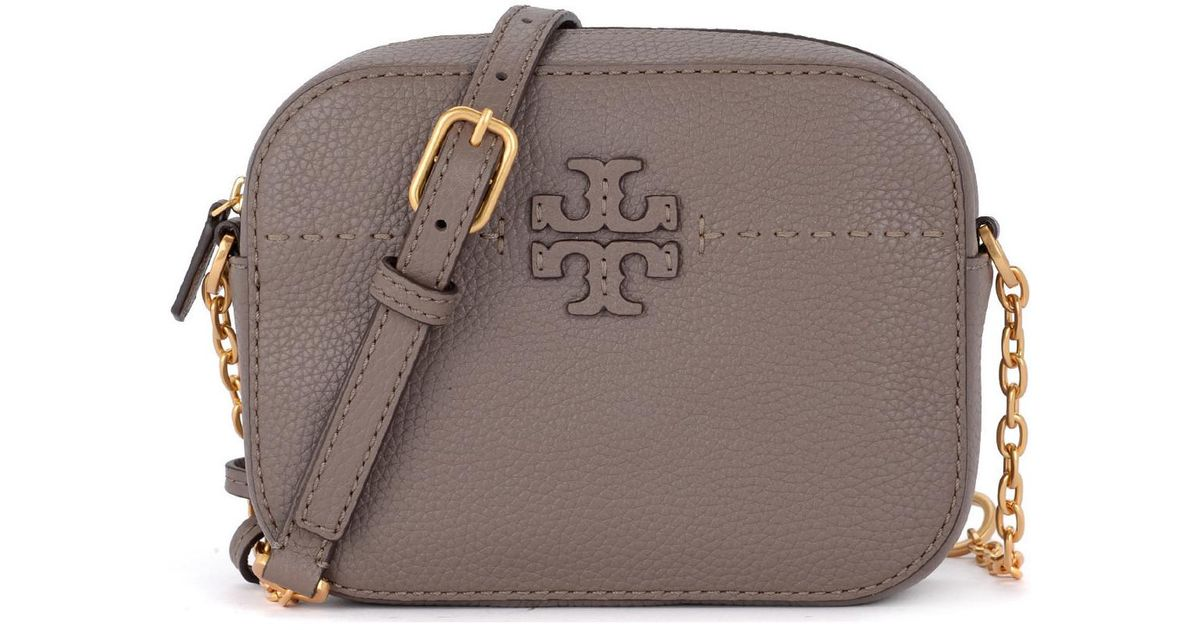 89b562d7e8 Tory Burch Mcgraw Grey Leather Shoulder Bag Women's Shoulder Bag In Grey in  Gray for Men - Lyst