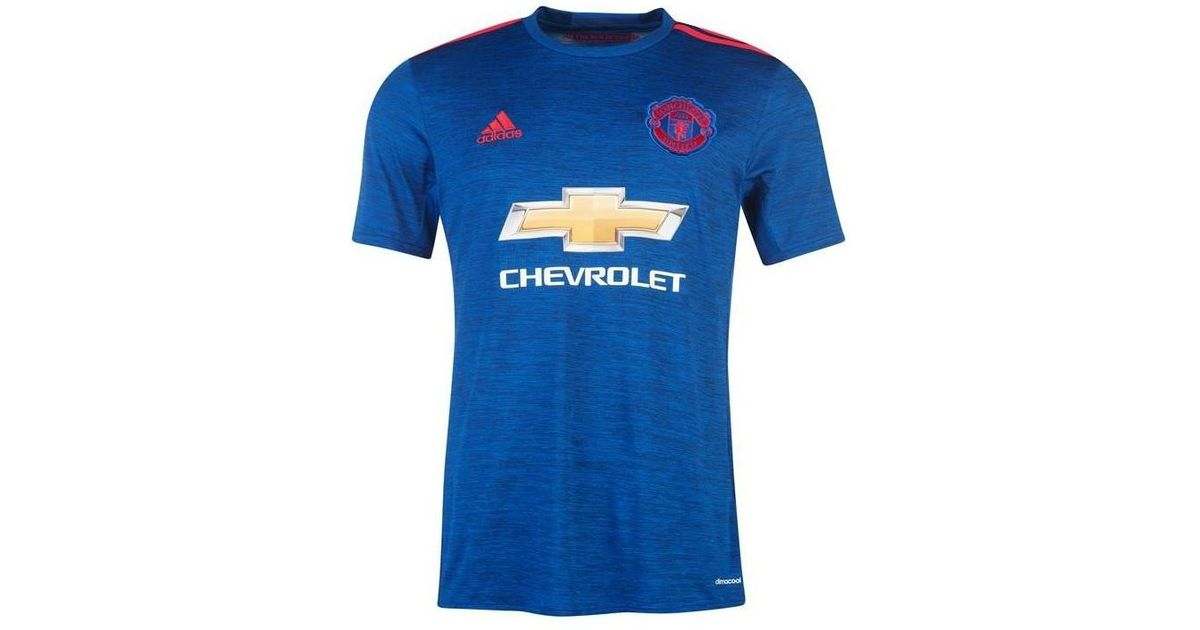 low priced 61286 8d53f Adidas - 2016-17 Manchester United Away Shirt (mata 8) Women's T Shirt In  Blue - Lyst