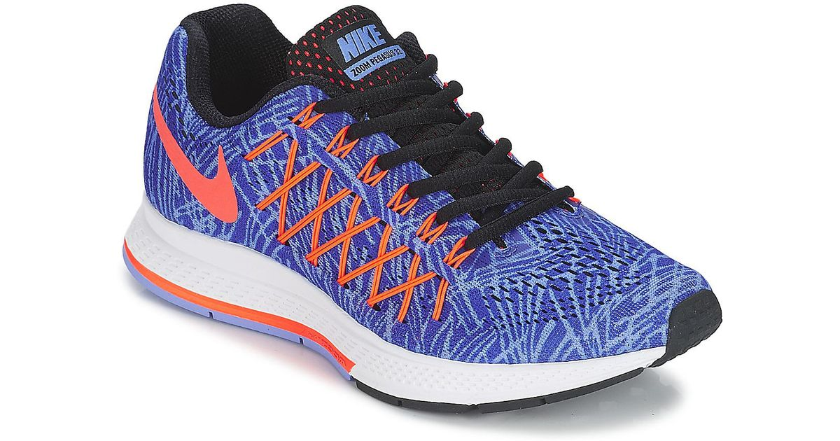 3eb338c0f430 Nike Air Zoom Pegasus 32 Print W Running Trainers in Blue - Lyst