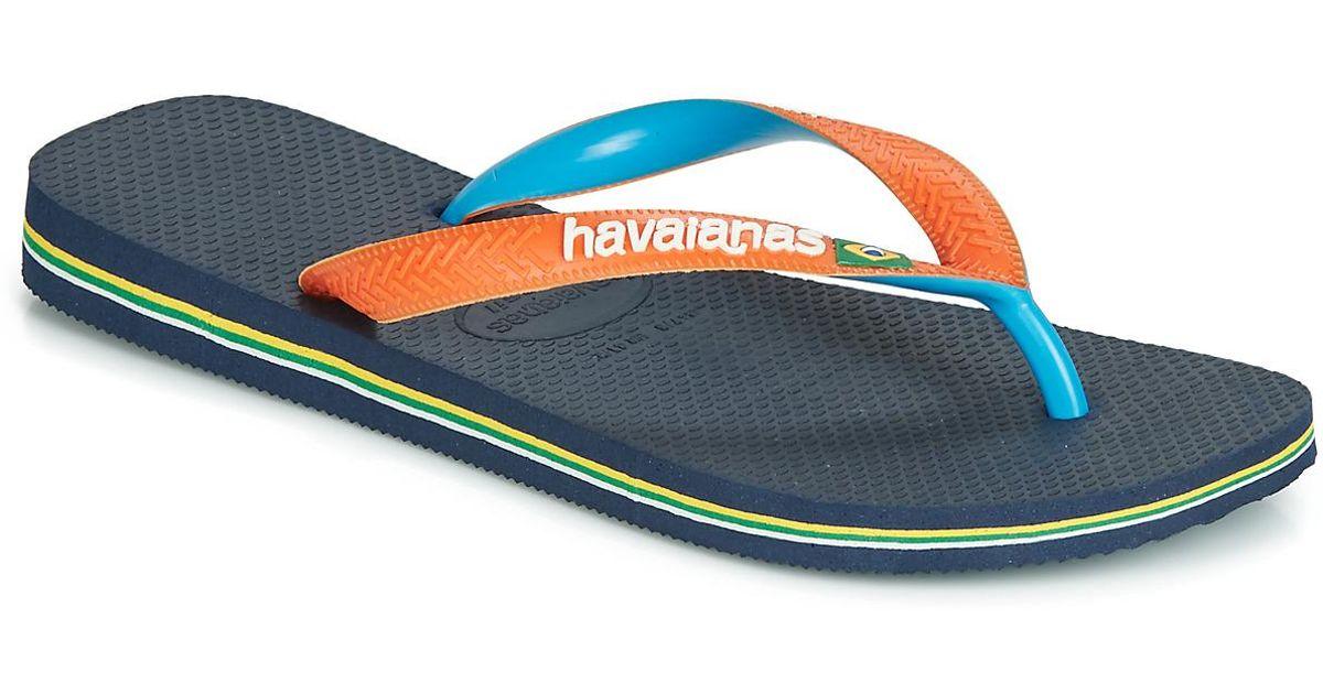 d4e7fdaf5766 Havaianas Brasil Mix Women s Flip Flops   Sandals (shoes) In Blue in Blue -  Lyst