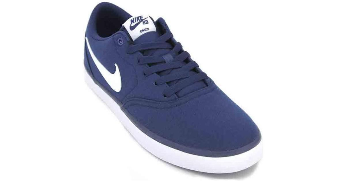 045bab7fa79 Nike Sb Check Solar Cnvs 843896 Men s Sneakers Men s Shoes (trainers) In  Blue in Blue for Men - Lyst