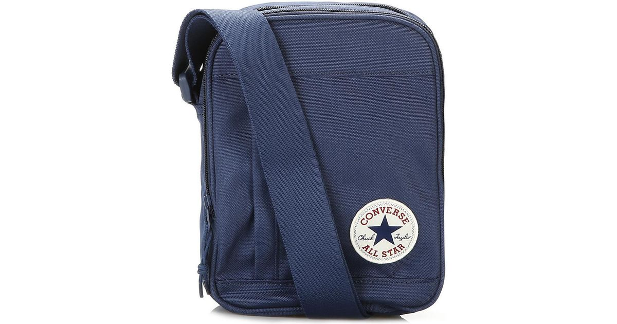 7d0c1504ba Converse Navy Cross Body Bag Men s Pouch In Multicolour in Blue for Men -  Lyst