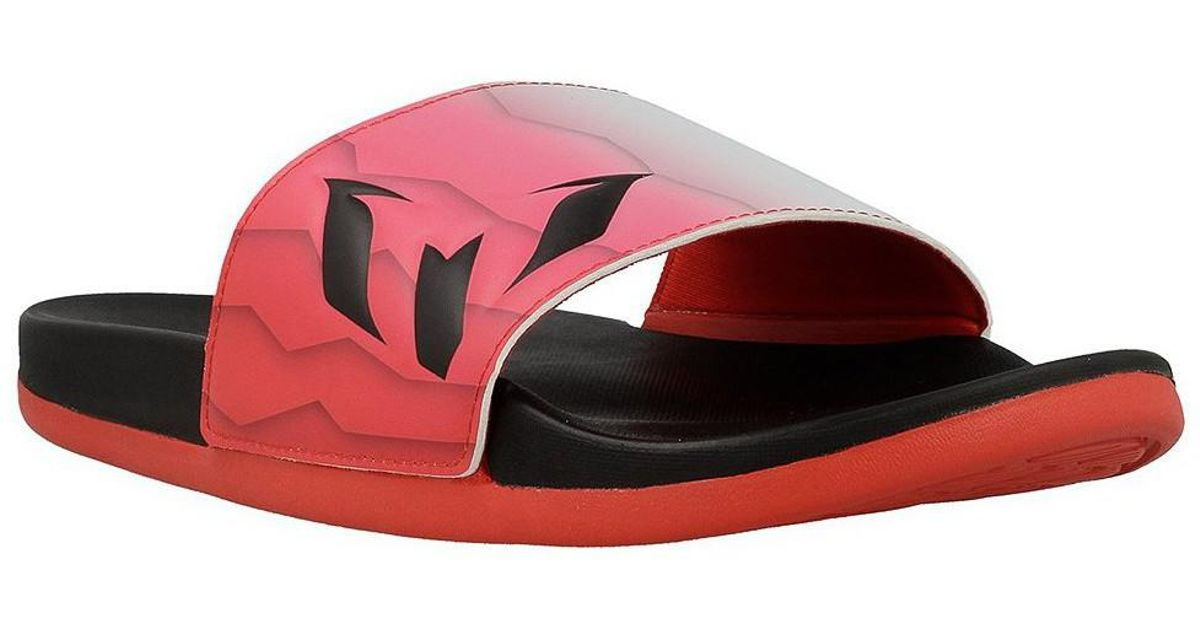 08983d2fc2425b adidas Originals Adilette Cf Messi Men s Outdoor Shoes In Red in Red for  Men - Lyst