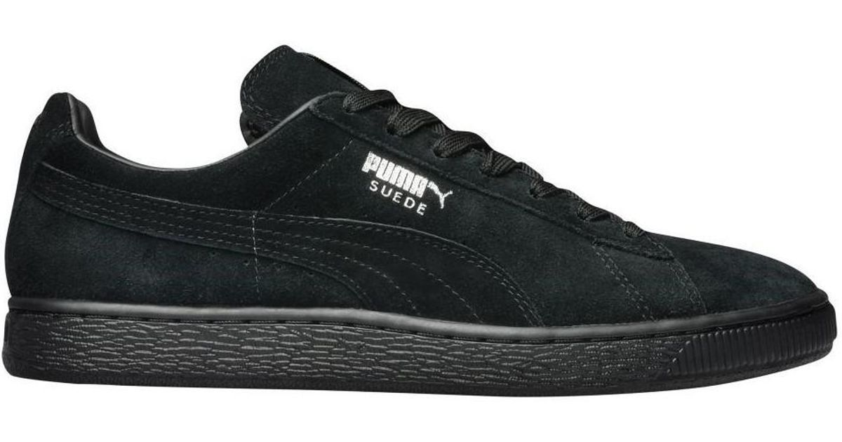 check out bcd66 47e15 PUMA - Suede Classic Blackdark Shadow Men's Shoes (trainers) In Black for  Men - Lyst