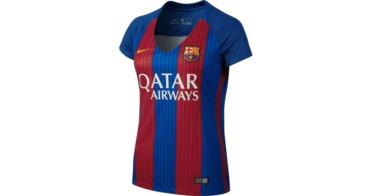 e3f176545 Nike 2016-17 Barcelona With Sponsor Womens Home Shirt (xavi 6) Men's T Shirt  In Red in Red - Lyst