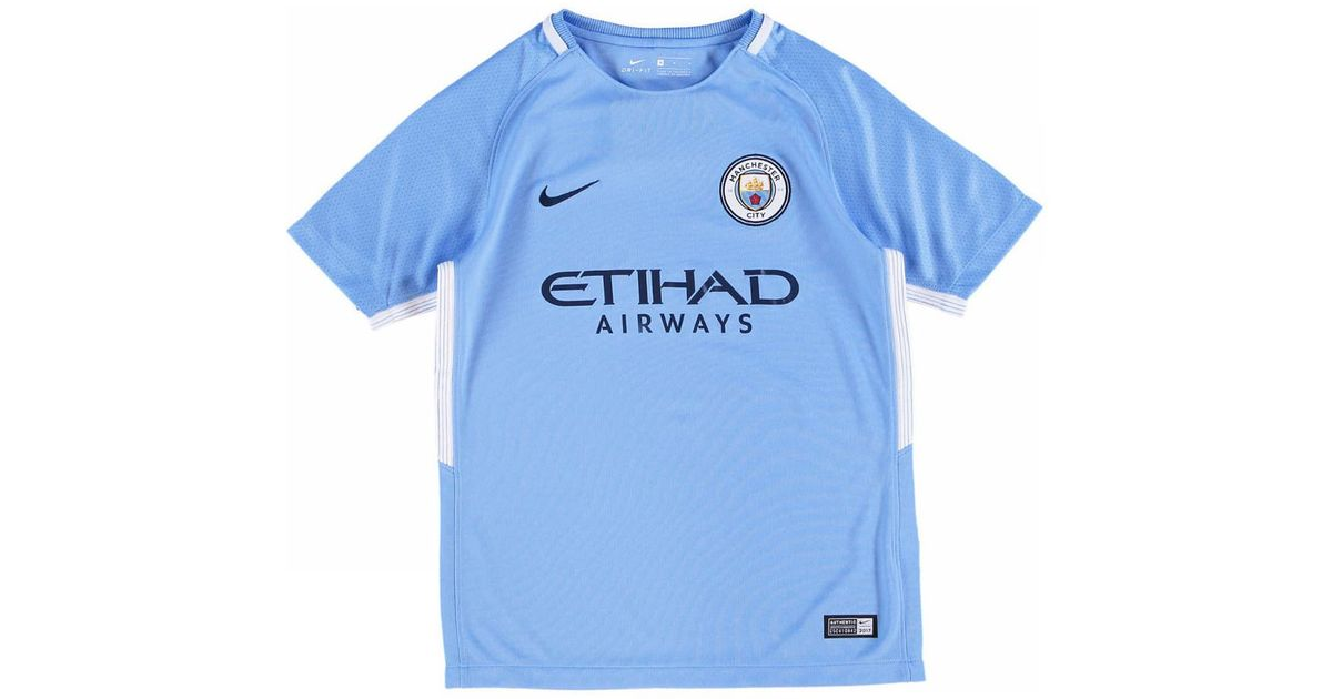 best service 3fb08 7b5df Nike - 2017-18 Man City Home Shirt - Kids (g Jesus 33) Men's T Shirt In  Blue for Men - Lyst