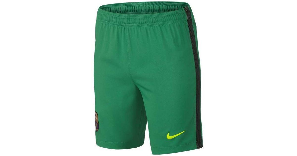 Nike 2016-2017 Barcelona Home Goalkeeper Shorts (lucid) - Kids Men s Shorts  In Green in Green for Men - Lyst 6ceeecf06