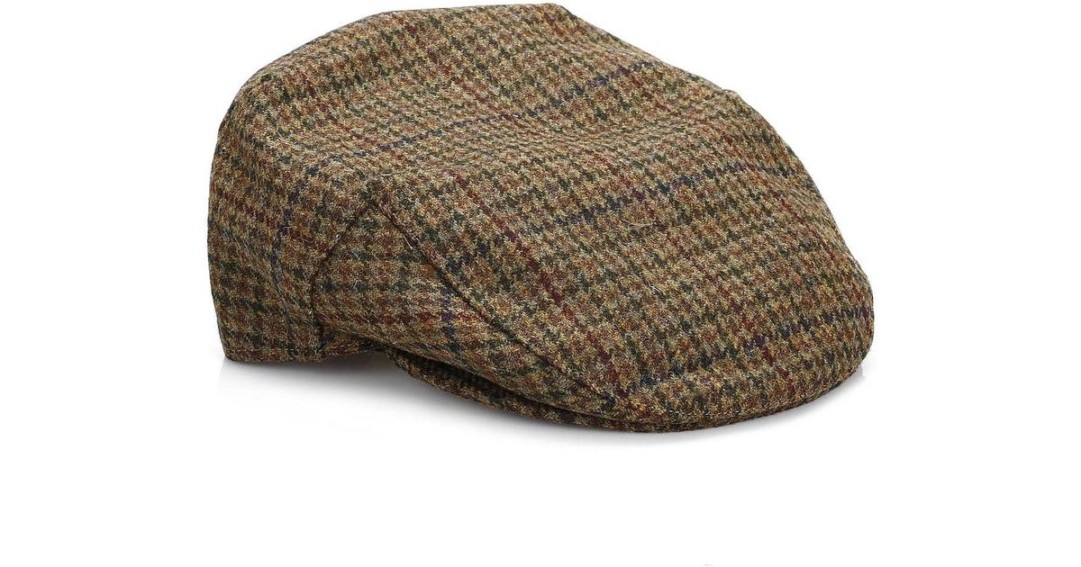 762e4e0626e Barbour Mens Dark Olive Check Crieff Cap Men s Hat In Green in Green for  Men - Lyst