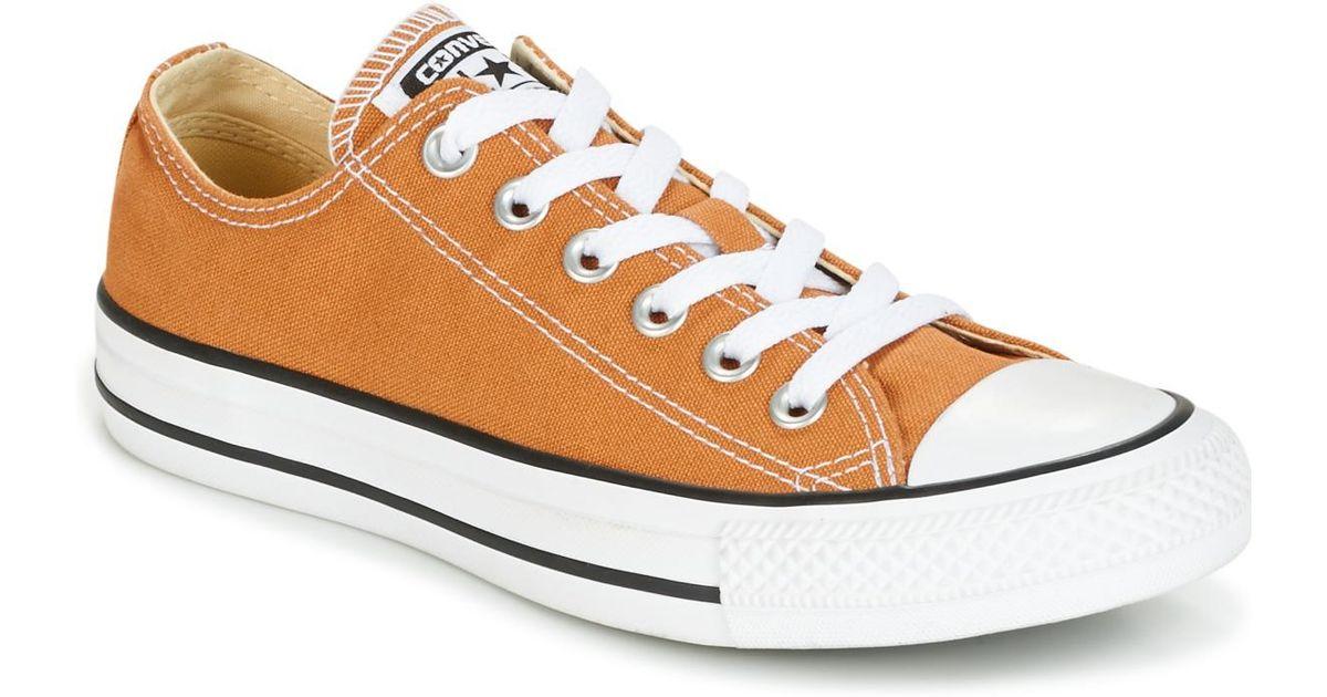 ponadczasowy design uznane marki oficjalny sklep Converse Chuck Taylor All Star Seasonal Color Ox Raw Sugar Men's Shoes  (trainers) In Brown for men