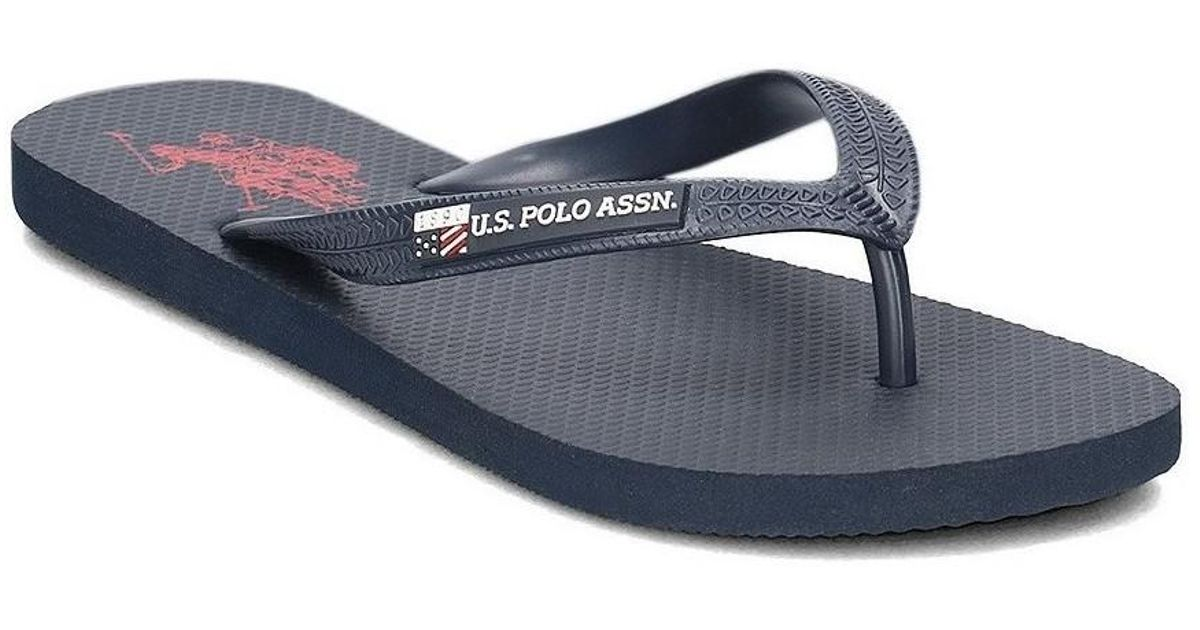 4d790f391baf U.S. POLO ASSN. Vaian4209s7 Men s Flip Flops   Sandals (shoes) In  Multicolour in Blue for Men - Lyst