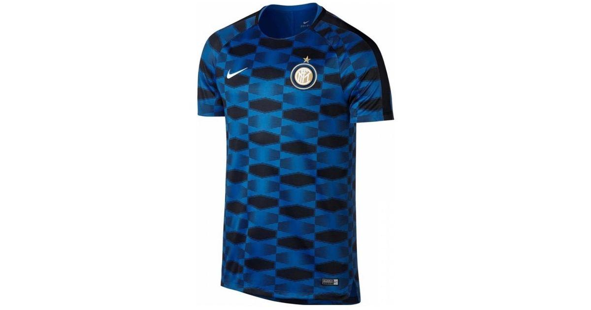 Nike 2017-2018 Inter Milan Pre-match Training Shirt Men s T Shirt In Blue  in Blue for Men - Lyst dffe65b97