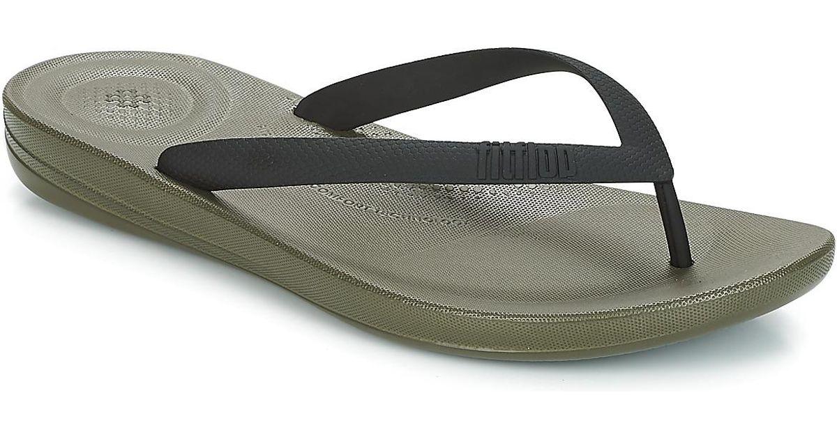 d6182d9cbe45 Fitflop Iqushion Ergonomic Flip Flop Men s Flip Flops   Sandals (shoes) In  Multicolour - Lyst