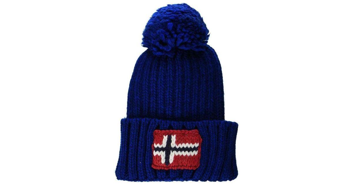 99189dc35d5 Lyst - Semiury 1 Cappello Blu N0YGSEBA5 femmes Bonnet en bleu Napapijri en  coloris Bleu