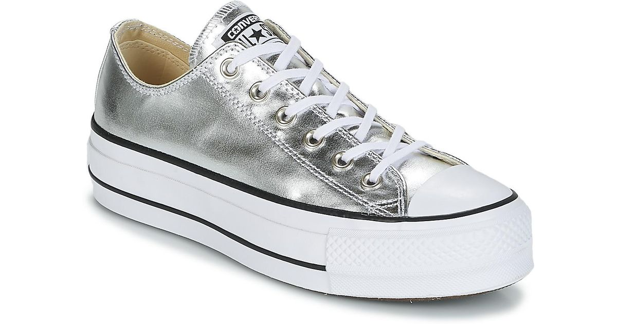 Converse Chuck Taylor All Star Lift Clean Ox Metallic Canvas Shoes (trainers)