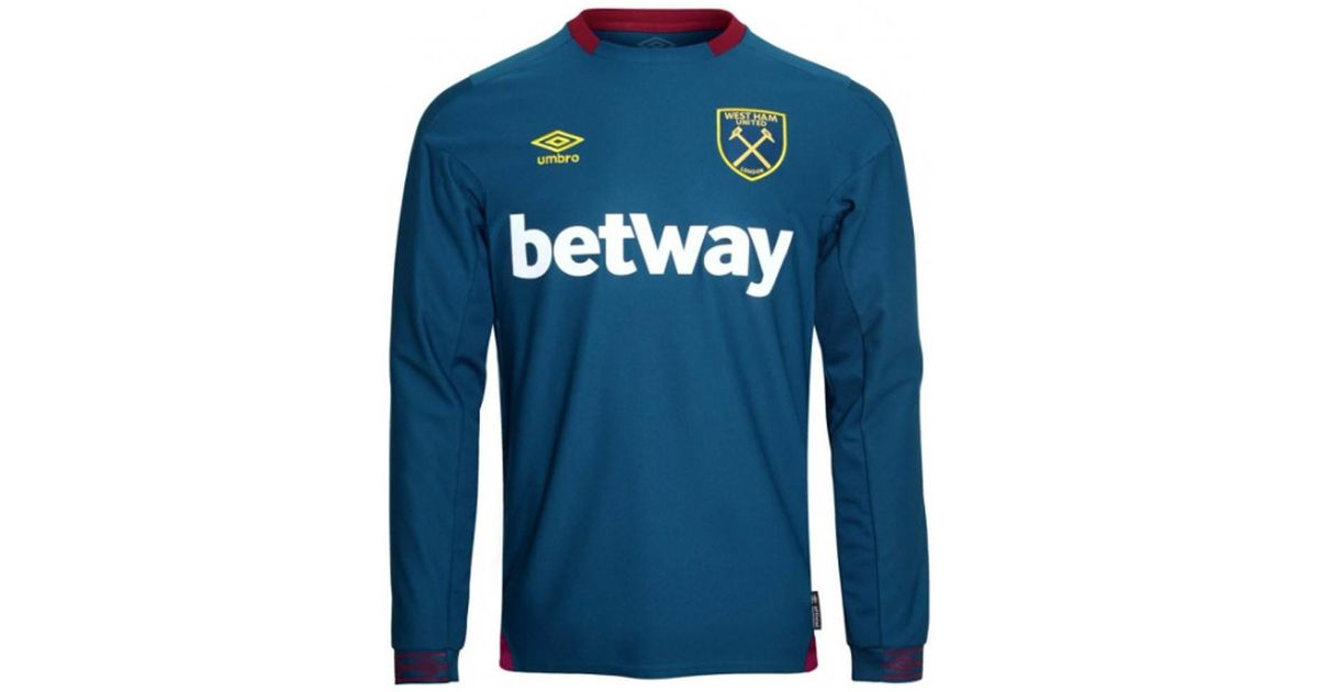 cfd70ebff Umbro 2018-2019 West Ham Long Sleeve Away Football Shirt Men's In Blue in  Blue for Men - Lyst
