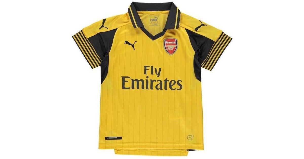 Puma 2016-2017 Arsenal Away Football Shirt (kids) Men s Polo Shirt In  Yellow in Yellow for Men - Lyst a17ce8017