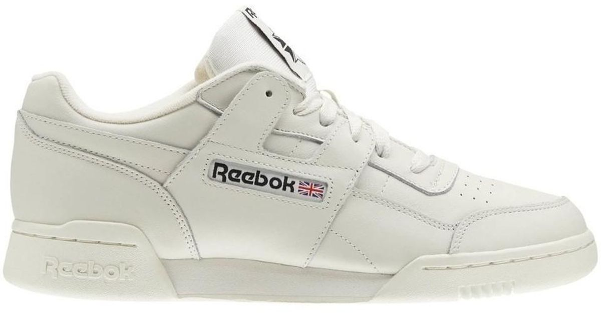 4b571d67e902e Reebok Workout Plus Mu Men s Shoes (trainers) In White in White for Men -  Lyst