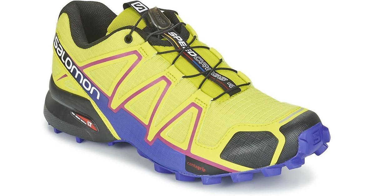 a16391b9f6b0 Yves Salomon Speedcross 4 W Women s Running Trainers In Yellow in Yellow -  Lyst