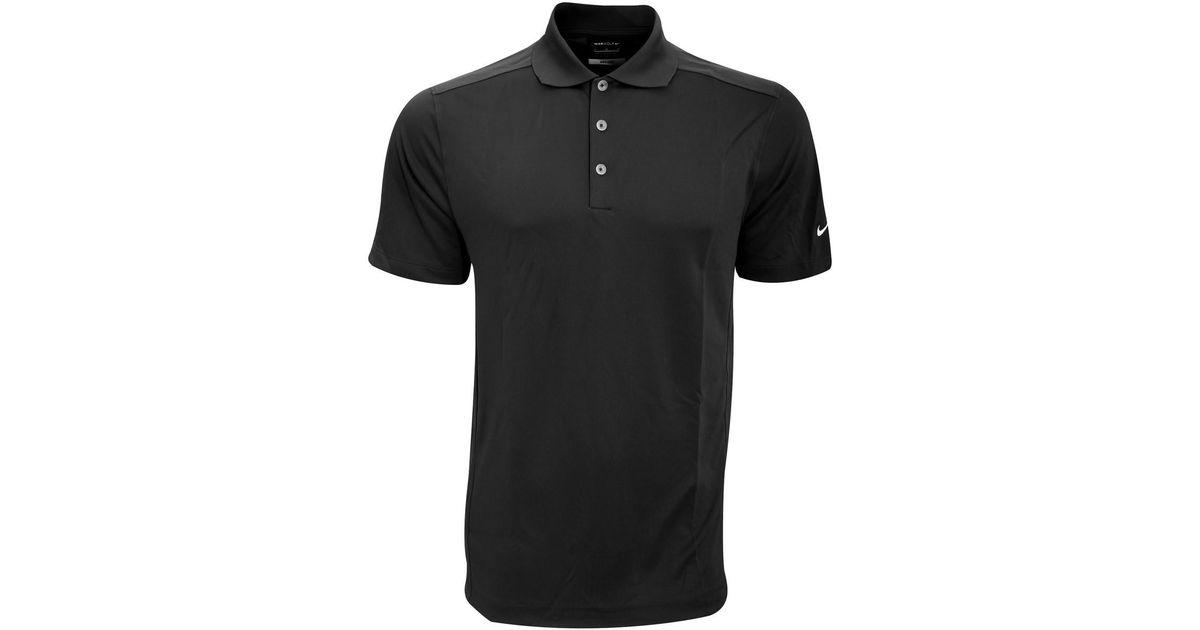 f26e9ce3 Nike Golf Mens Smu Plain Solid Knit Short Sleeve Polo Shirt Men's Polo  Shirt In Black in Black for Men - Lyst