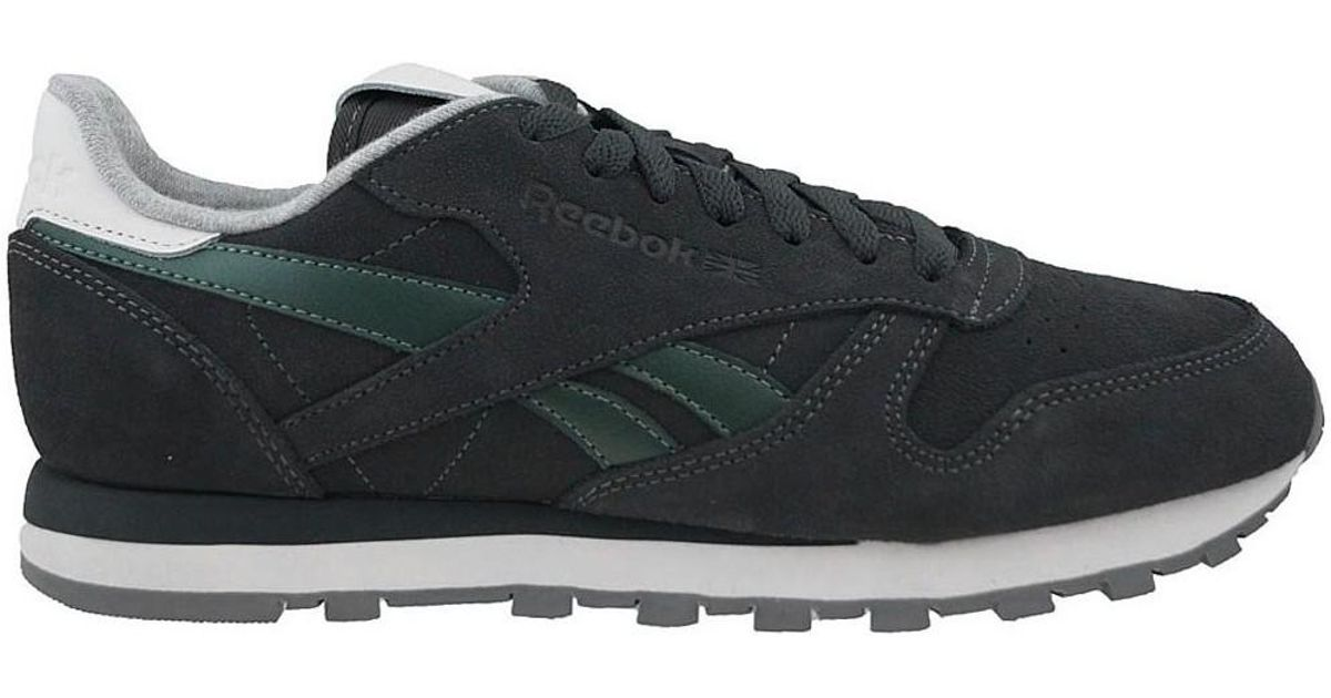 ddd407851f0 discount code for reebok classic leather blue ed779 31ac5  sweden reebok cl  leather suede mens shoes trainers in grey in gray for men lyst efb90