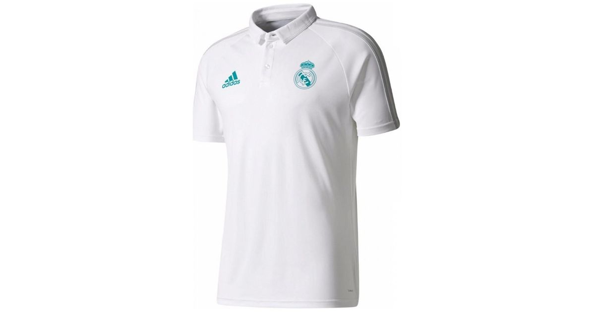 huge discount 8d87d 3ba0e Adidas - 2017-2018 Real Madrid Polo Shirt Women's Polo Shirt In White - Lyst
