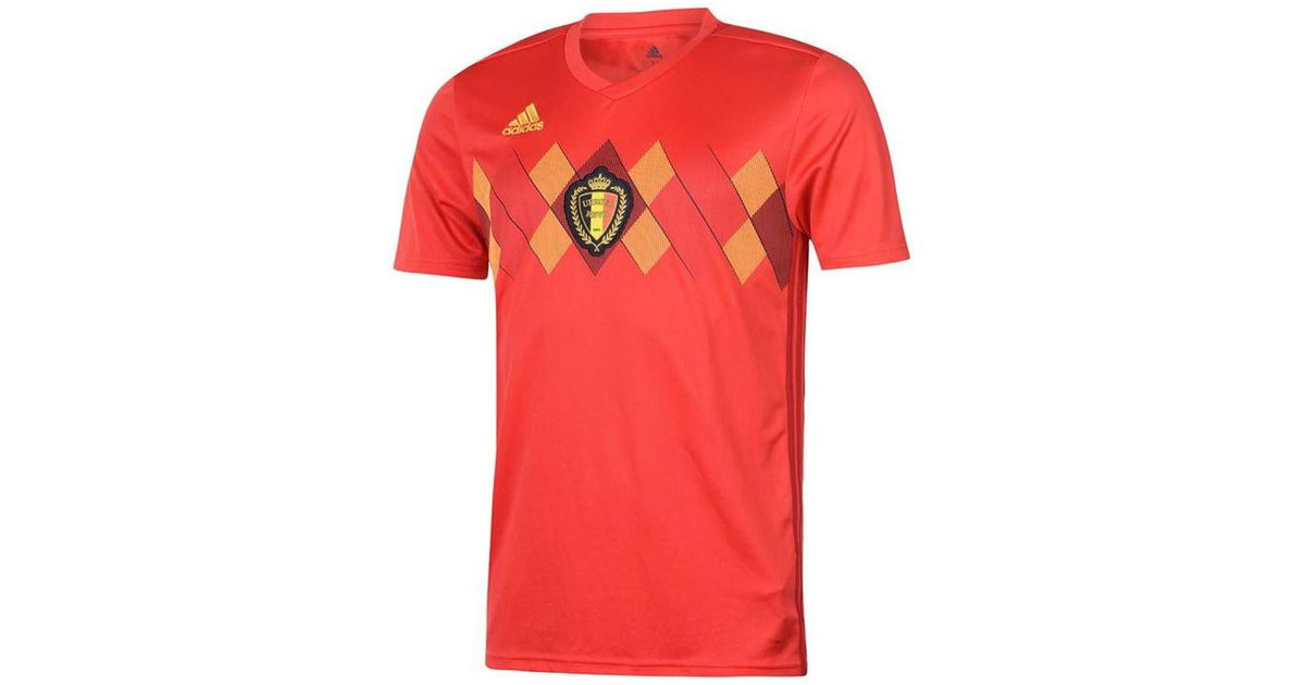 new styles f1a36 0a460 Adidas - 2018-2019 Belgium Home Shirt (de Bruyne 7) Men's T Shirt In Red  for Men - Lyst