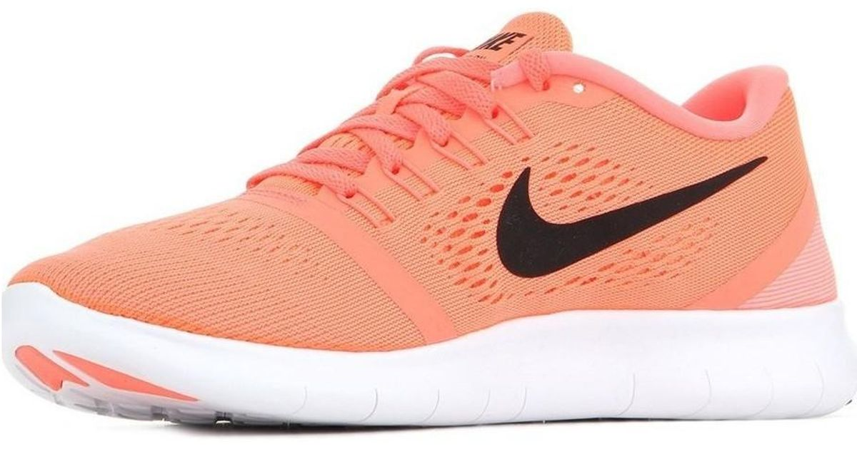 7592491f5a7 Nike Free Rn Women s Shoes (trainers) In Multicolour in Pink - Lyst