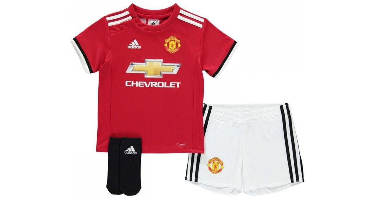 ea30c8f35 Adidas 2017-2018 Man Utd Home Baby Kit Boys s In Red in Red for Men - Lyst