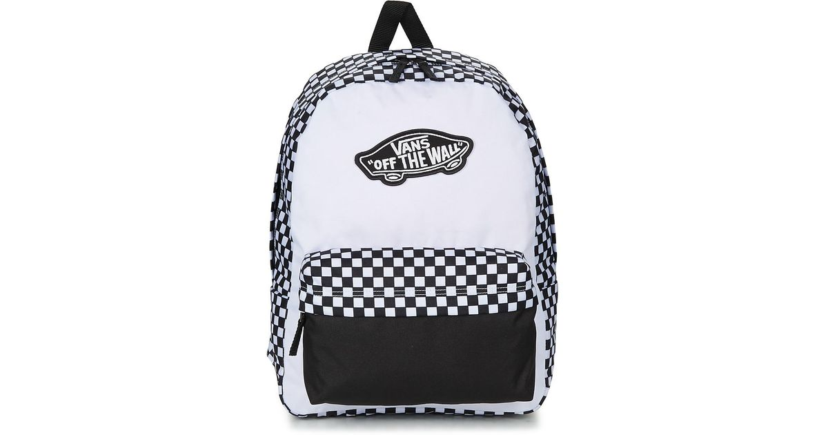 Vans Realm Backpack Men s Backpack In White in White - Lyst