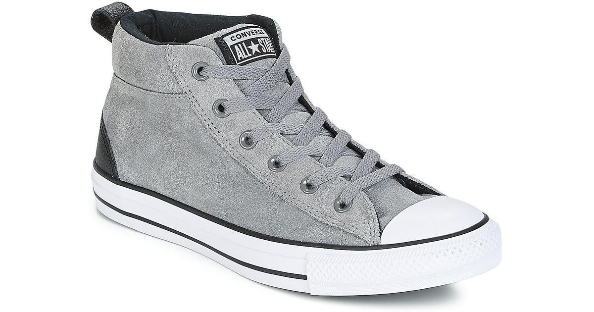 various colors 3eba4 ecc09 Converse Chuck Taylor All Star Street Mid Men s Shoes (high-top Trainers)  In Grey in Gray for Men - Lyst