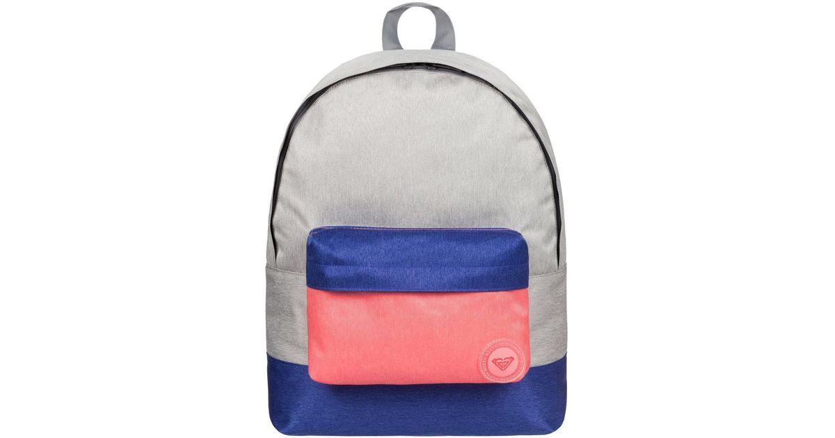 290d5d751b9 Roxy Sugar Baby Colorblock - Mochila Mediana Women s Backpack In Grey in  Gray - Lyst