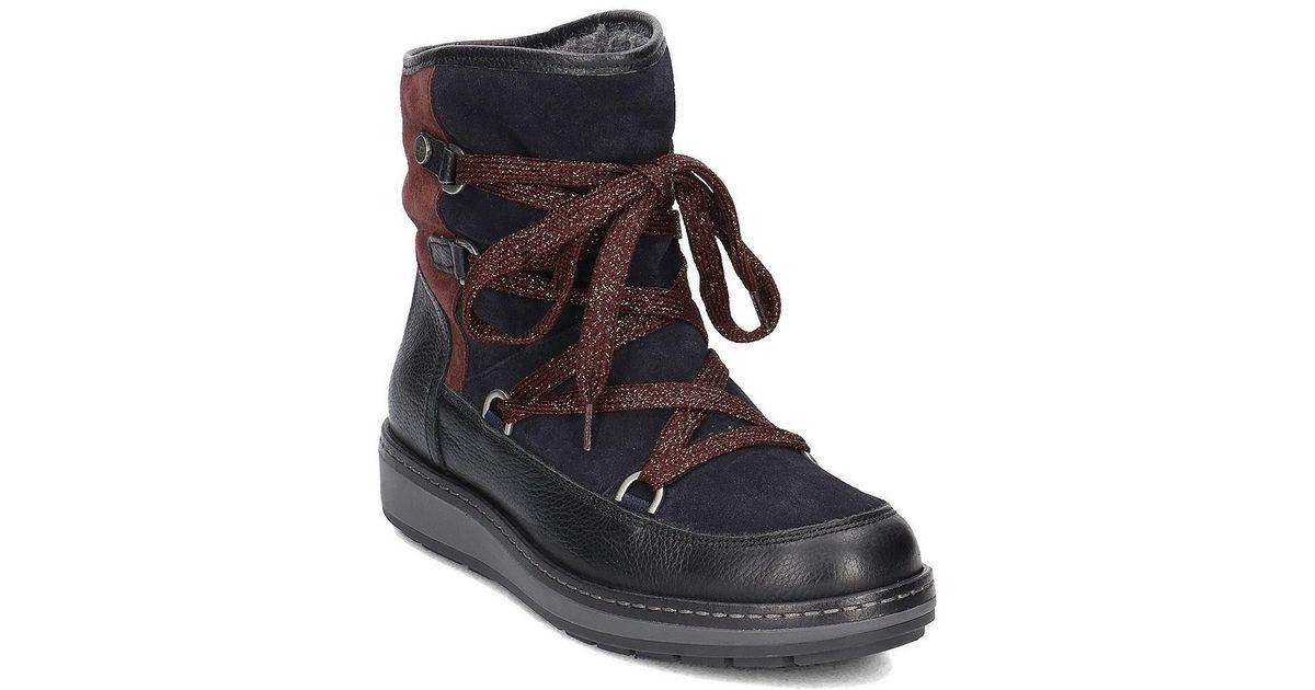 1a4b1b84064d Tommy Hilfiger Wooli 14c1 Women s Snow Boots In Black in Black - Lyst
