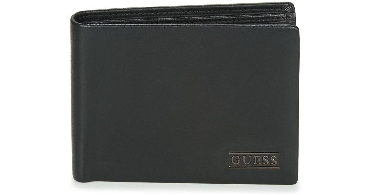 Guess New Boston Billfold W coin Pocket Men s Purse Wallet In Black in Black  for Men - Lyst f33e3d5727